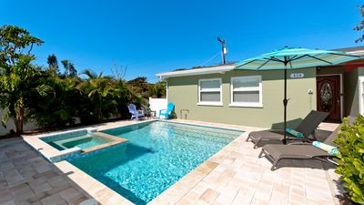 Photo for Island Delight - a brand new sparkling private heated pool and hot tub