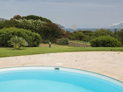 Photo for Spiaggia Bianca - Beautiful sea view apartment with garden in complex with pool