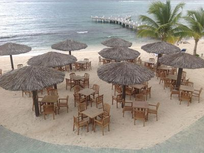 Photo for Beachfront 2 Bedroom Condo With Magnificent Caribbean View! Morritt's Grand