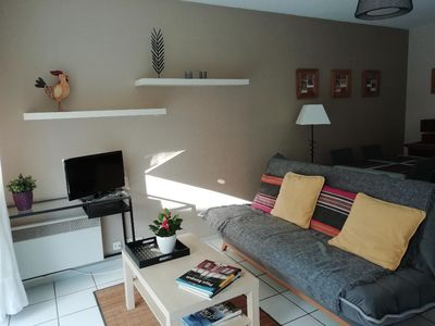 Photo for T2 ground floor beautiful terrace parking pool near the beaches area 5 cantons