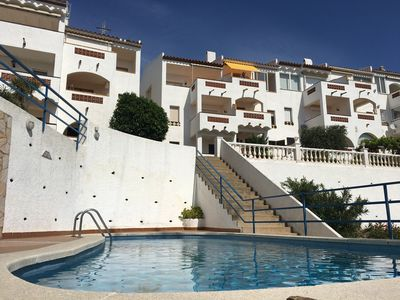 Photo for Apartment standing 55m2 redone new 4/6 p. terrace and pool sea view