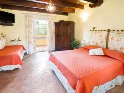 Photo for VILLA LISA - NESPOLO - APART. WITH LOGGIA IN VILLA WITH GARDEN 600 M FROM THE SEA