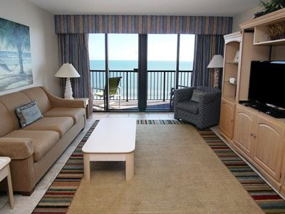 Photo for Beach Colony 1401, Lovely 2 BR Ocean Front Condo with Indoor Outdoor Pools, Hot Tubs, Lazy River and Kiddie Pool