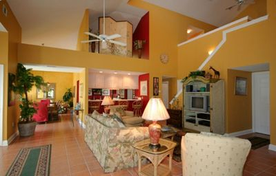 Relax in the spacious, open living room with a Mediterranean kick!Destin, FL
