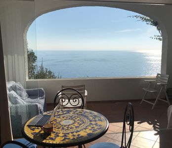 Photo for Il Carrubo Blù, Charming Condo with Stunning Views of Sea in Flower-Filled Park