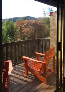 Deck with views of the Alisal Ranch
