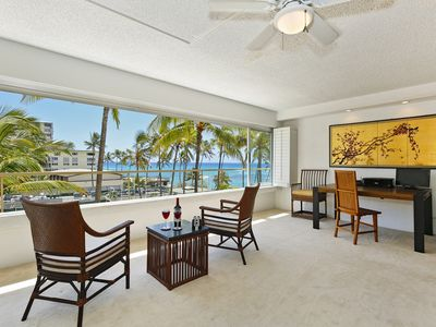 Beachfront Building at the Quiet End of Waikiki with Swimming/Surfing!