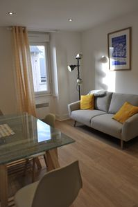 Photo for A stone's throw from the Thermes Marins and the beach of Sillon in the heart of Courstoiville