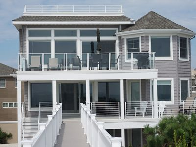 Photo for New Oceanfront House on the Beach in Surf City, LBI - 6 Bedrooms + sofa bed