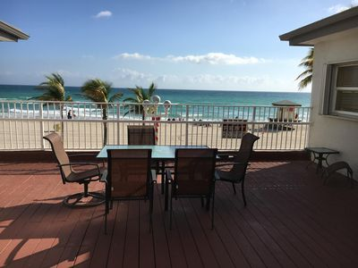 Photo for 7 Oceanfront efficiency directly above the beach! 7
