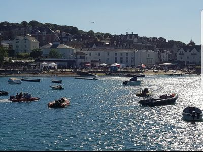 Photo for Modern 2 bed apartment in the heart of Swanage with off road parking.