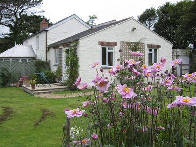 View of the cottage from the garden