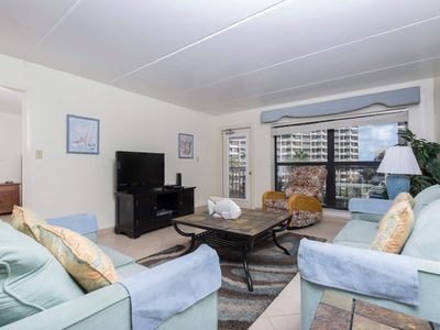 Beachfront condo with great view as seen on HGTV's Beachfront Bargain Hunt!