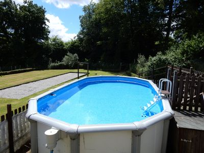 Exclusive use of above ground, fenced and padlocked pool as well as boule pitch
