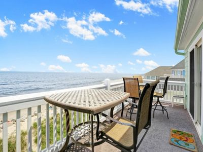 Photo for Oceanfront Third Floor Condo, Free WiFi, Dog Friendly with Outdoor community Pool