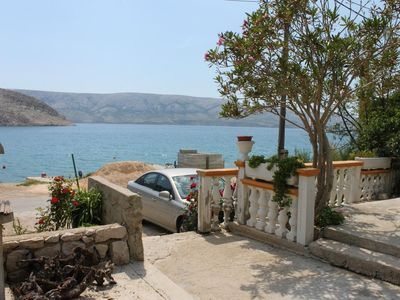 Photo for Two bedroom apartment near beach Metajna, Pag (A-6352-a)