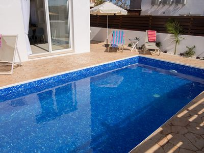 Photo for Villa Mimosa - Fully Air Conditioned 2-Bedroom Villa with Private Pool, only 300 Meters from the Beach and near all Amenities ! FREE WiFi