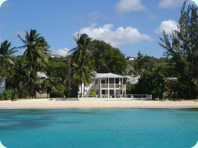 Photo for 2 bedroom beach front apartment - Fits village, Barbados