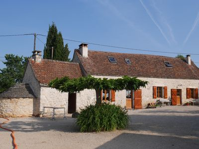 Photo for Stone cottage close to Saint Cirq Lapopie with pool and WIFI