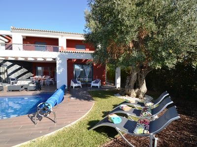 Photo for Luxury 3 en-suite Villa + 1 bed room Just 200mts from the Beach *Heated Pool*