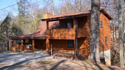 Photo for DECEMBER SALE! $99 PN. Pigeon Forge Mountain cabin! Hot tub, fireplace, PS4 5⭐️'s