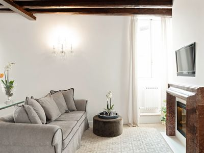 Photo for Luxury penthouse in the heart of Trastevere
