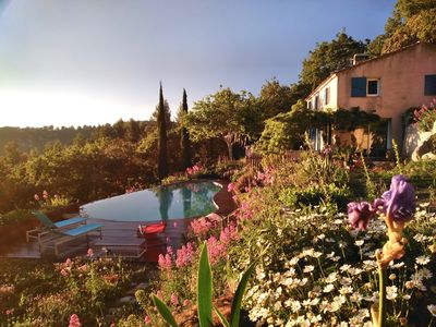 Photo for PROVENCAL MAS WITH SWIMMING POOL, FULL NATURE CLOSE TO BANDOL LE CASTELLET SANARY