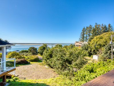Photo for Ocean view home overlooking Netarts Bay w/ deck & gas grill - dogs OK!