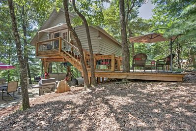 Outstanding Cozy Pickens Tree House W Private Patio Fire Pit Cleveland Download Free Architecture Designs Scobabritishbridgeorg