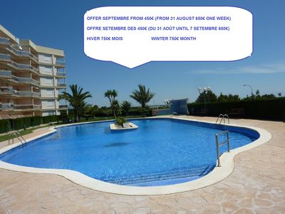 Photo for NICE APARTMENT WITH SEA VIEWS, WIFI, AIR CONDITION, 50M TO THE BEACH