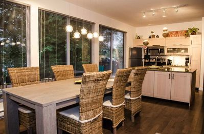 Dining area with view   into kitchen