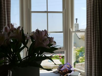 Window seat in the sitting room