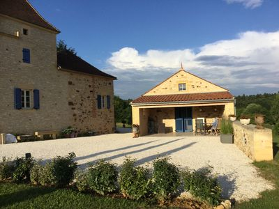 Photo for WELCOME TO LA QUINTOU, RUSTIC HOLIDAY HOUSE ON THE BORDER OF THE LOT AND DORDOGNE