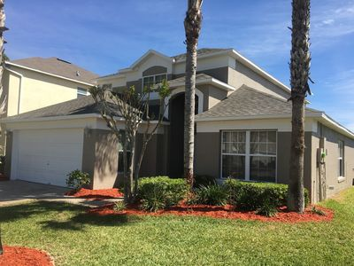 Photo for Lake Berkley Villa, Lakefront Private Pool, Games Room, WiFi, Close to Disney
