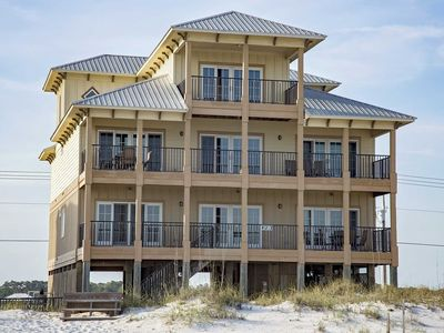 Photo for Spring Into A Vacation ~ 9 BR ~ Gulf Front ~ Private Pool ~ Sleeps 30 ~ Sun N Sands Beach House