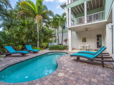 Photo for Tropical Sands: Gulf Views, Across the Street from Beach, Private Heated Pool!