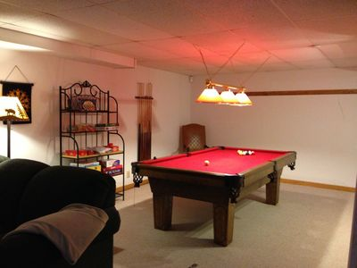 Basement Play Area With Pool Table