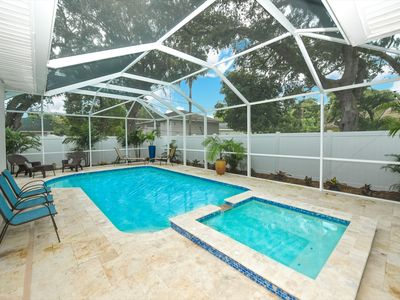 """Photo for """"Salty Breeze"""" Near Pinecraft, Heated Enclosed Salt Pool and Spa, <12 people"""