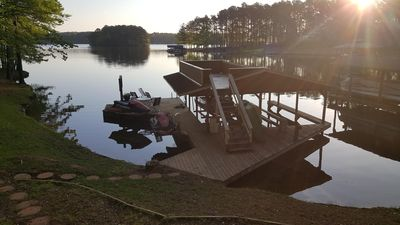 Photo for Beautiful home in quiet cove on Lake Gaston, Pea Hill Creek area, with Dock