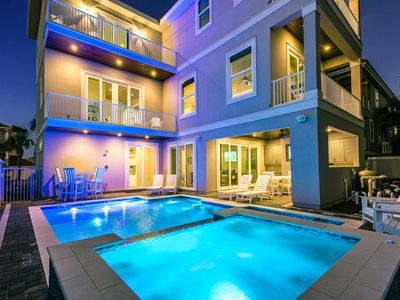 Photo for Sandprint Castle | Waterfall Pool Hot Tub | Water View | 2 Game Rooms | NEW BUILD