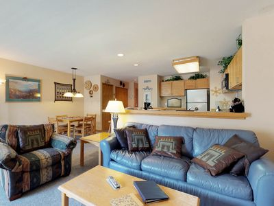 Photo for NEW LISTING! Spacious ground-level condo with ski views, shared pool and hot tub