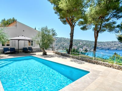 Photo for 3 bedroom Villa with private pool overlooking the harbor & Sea of Puerto Soller