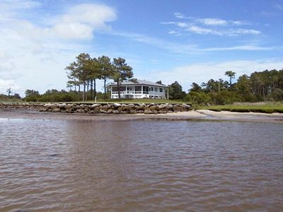 Photo for Secluded Beaufort Waterfront Cottage on 2 Acres - Panoramic Views! Pet Friendly!