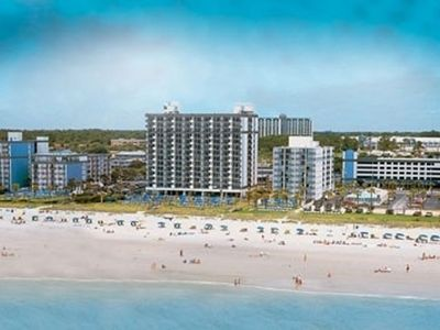 Photo for Oceanfront Beach Condo on the Boardwalk Sleeps 8