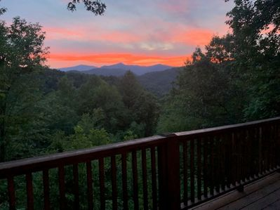 Tree house cottage sunset views