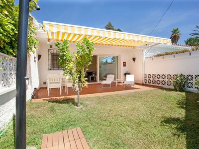 Photo for Charming beachside house Costabella, Marbella