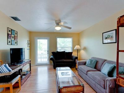 Photo for NEW LISTING! Cozy full duplex w/2 private pools only a short walk from the beach