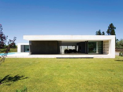 Photo for Contemporary house, interior design, private pool, wifi, linens included