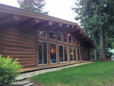 First Fall's Log Cabin - Custom built in 2005 using reclaimed lodgepole pine.