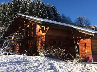 Photo for THE family chalet, ideal winter and summer! View at the top!